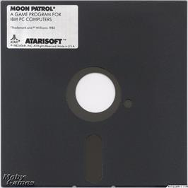 Artwork on the Disc for Moon Patrol on the Microsoft DOS.