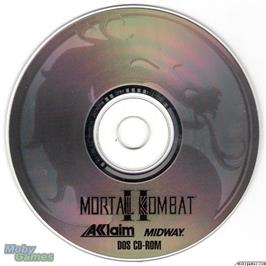 Artwork on the Disc for Mortal Kombat II on the Microsoft DOS.