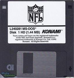 Artwork on the Disc for NFL Football on the Microsoft DOS.