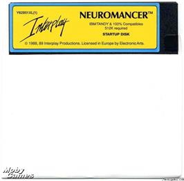 Artwork on the Disc for Neuromancer on the Microsoft DOS.