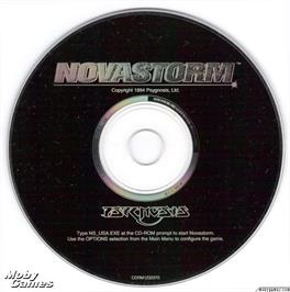 Artwork on the Disc for Novastorm on the Microsoft DOS.