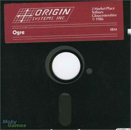 Artwork on the Disc for Ogre on the Microsoft DOS.