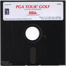 Artwork on the Disc for PGA Tour Golf on the Microsoft DOS.