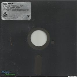 Artwork on the Disc for Pac Man on the Microsoft DOS.
