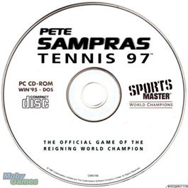 Artwork on the Disc for Pete Sampras Tennis 97 on the Microsoft DOS.