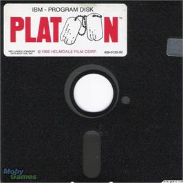 Artwork on the Disc for Platoon on the Microsoft DOS.
