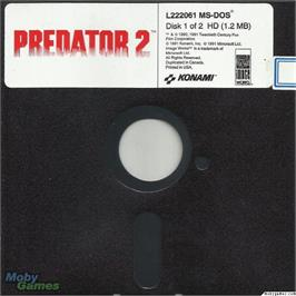 Artwork on the Disc for Predator 2 on the Microsoft DOS.