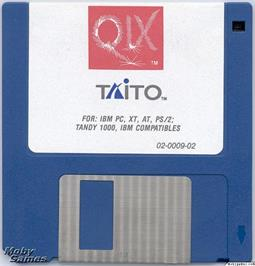 Artwork on the Disc for QIX on the Microsoft DOS.