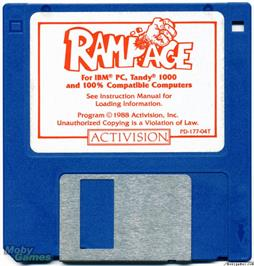 Artwork on the Disc for Rampage on the Microsoft DOS.