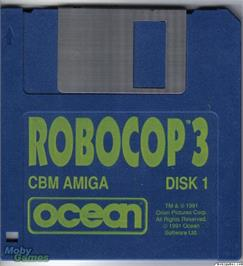 Artwork on the Disc for RoboCop 3 on the Microsoft DOS.