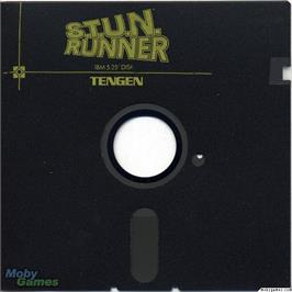 Artwork on the Disc for S.T.U.N. Runner on the Microsoft DOS.