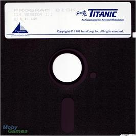 Artwork on the Disc for Search for the Titanic on the Microsoft DOS.