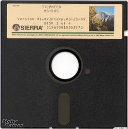 Artwork on the Disc for Silpheed on the Microsoft DOS.