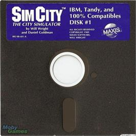 Artwork on the Disc for SimCity on the Microsoft DOS.