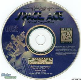 Artwork on the Disc for Space Ace on the Microsoft DOS.