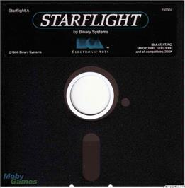 Artwork on the Disc for Starflight on the Microsoft DOS.
