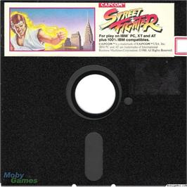 Artwork on the Disc for Street Fighter on the Microsoft DOS.