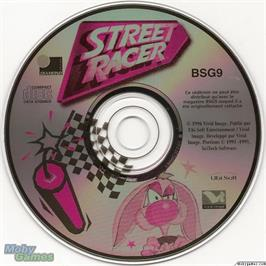 Artwork on the Disc for Street Racer on the Microsoft DOS.