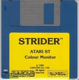 Artwork on the Disc for Strider on the Microsoft DOS.