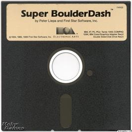 Artwork on the Disc for Super Boulder Dash on the Microsoft DOS.