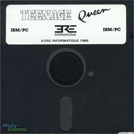Artwork on the Disc for Teenage Queen on the Microsoft DOS.