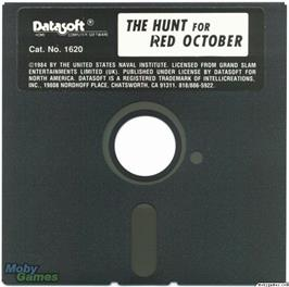 Artwork on the Disc for The Hunt for Red October on the Microsoft DOS.