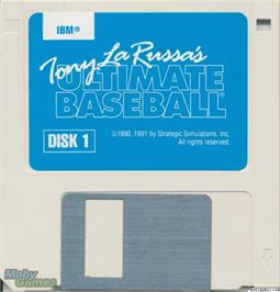 Artwork on the Disc for Tony La Russa's Ultimate Baseball on the Microsoft DOS.