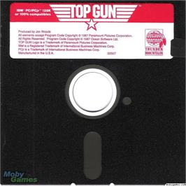 Artwork on the Disc for Top Gun on the Microsoft DOS.