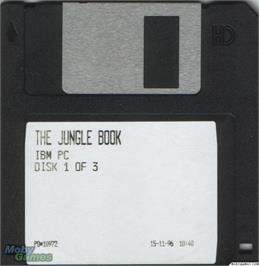 Artwork on the Disc for Walt Disney's The Jungle Book on the Microsoft DOS.
