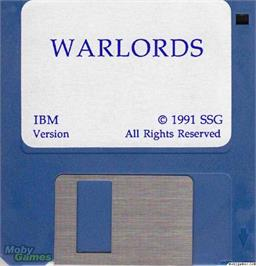 Artwork on the Disc for Warlords on the Microsoft DOS.