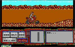 In game image of African Trail Simulator on the Microsoft DOS.