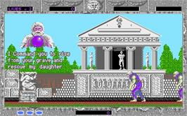 In game image of Altered Beast on the Microsoft DOS.