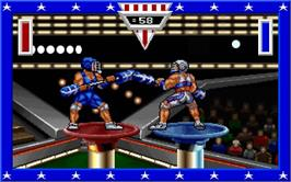 In game image of American Gladiators on the Microsoft DOS.