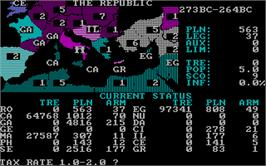 In game image of Annals of Rome on the Microsoft DOS.