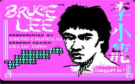 In game image of Bruce Lee on the Microsoft DOS.
