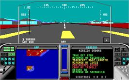 In game image of F-19 Stealth Fighter on the Microsoft DOS.