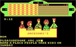 In game image of Family Feud on the Microsoft DOS.
