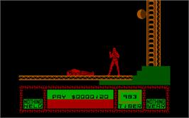 In game image of Saboteur II on the Microsoft DOS.