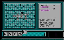 In game image of Scramble on the Microsoft DOS.