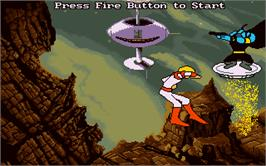 In game image of Space Ace on the Microsoft DOS.