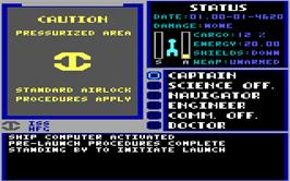 In game image of Starflight on the Microsoft DOS.