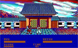 In game image of Street Fighter on the Microsoft DOS.