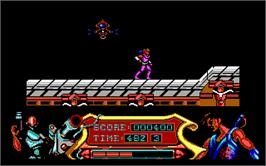 In game image of Strider on the Microsoft DOS.