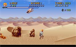 In game image of Super Star Wars on the Microsoft DOS.