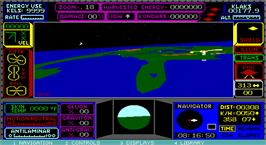 In game image of UFO on the Microsoft DOS.