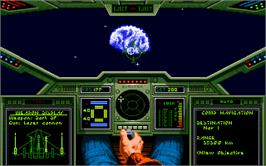 In game image of Wing Commander on the Microsoft DOS.