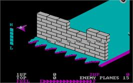 In game image of Zaxxon on the Microsoft DOS.