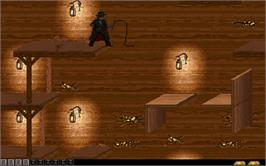 In game image of Zorro on the Microsoft DOS.