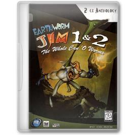 Box cover for Earthworm Jim on the Microsoft Windows.