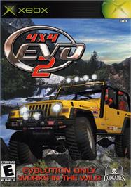 Box cover for 4x4 Evo 2 on the Microsoft Xbox.